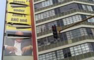 Political billboards gun for headlines