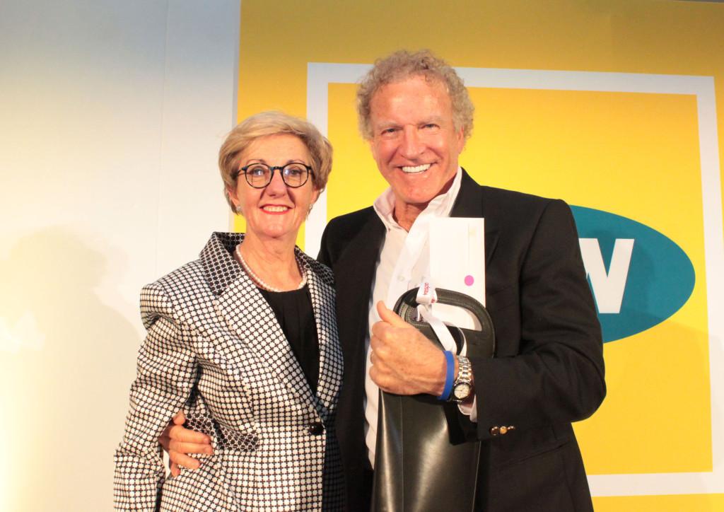 Sandra Gordon and 2016 Media Owner Legend Barry Sayer